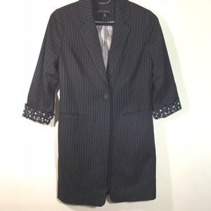 Chico's black label oversized blazer size 00